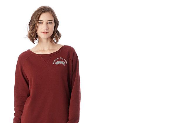 Heather Hill Farm Ladies Reversible Terry Sweatshirt