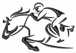 Jockey outline