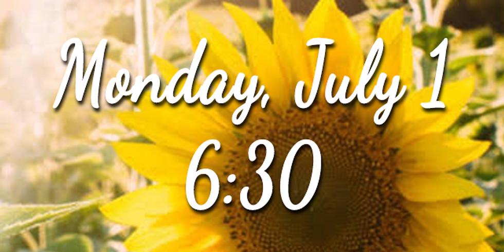 Sunflower Session - Monday 6:30