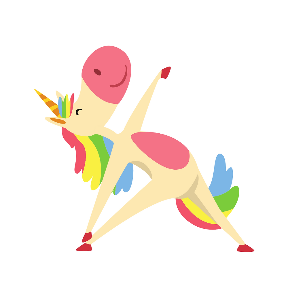 Cartoon image of wild thing for kids yoga