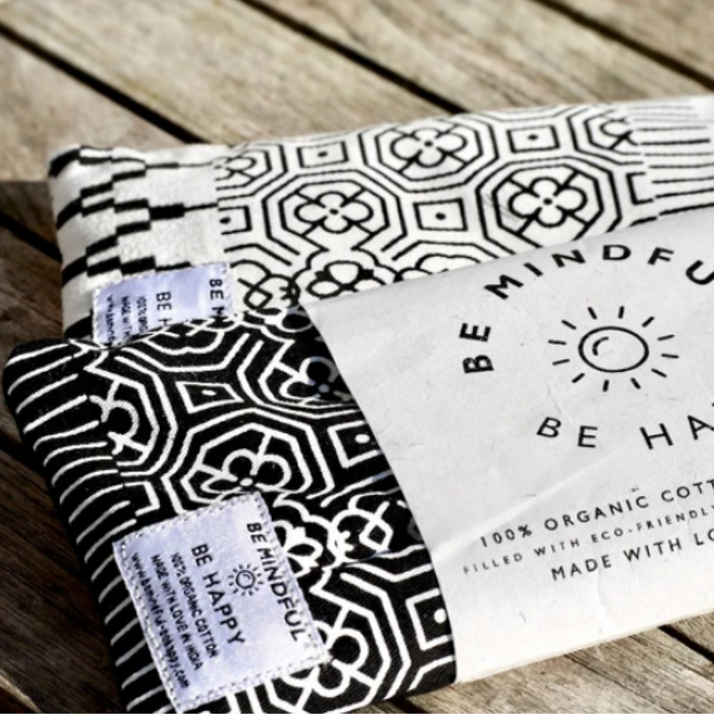 organic eye pillow to practice live online yoga at home this christmas