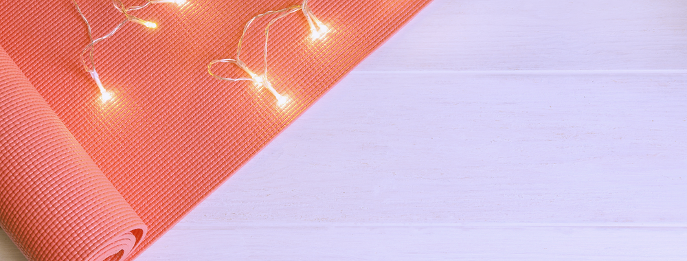 yoga mat with christmas lights on it ready live online yoga gift ideas for christmas