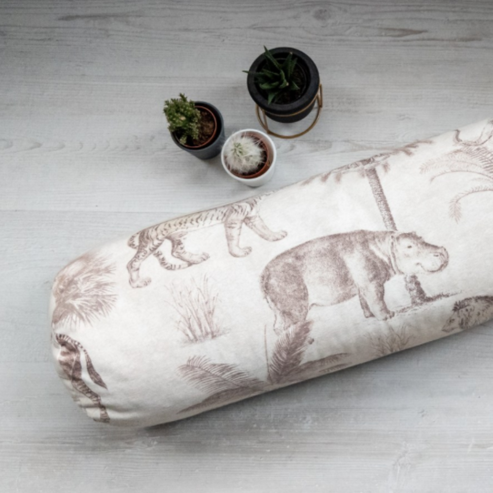 organic buckwheat bolster to practice live online yoga at home this christmas