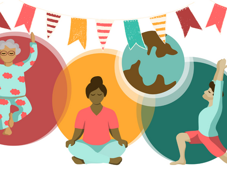 Live Online Yoga: It's our 1st birthday! Celebrate with us 🎉