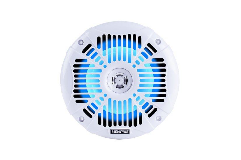 "Memphis Audio - 6.5"" Coaxial White with LED"