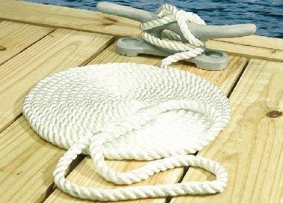 Seachoice - 3-Strand Twisted Nylon Dock Line