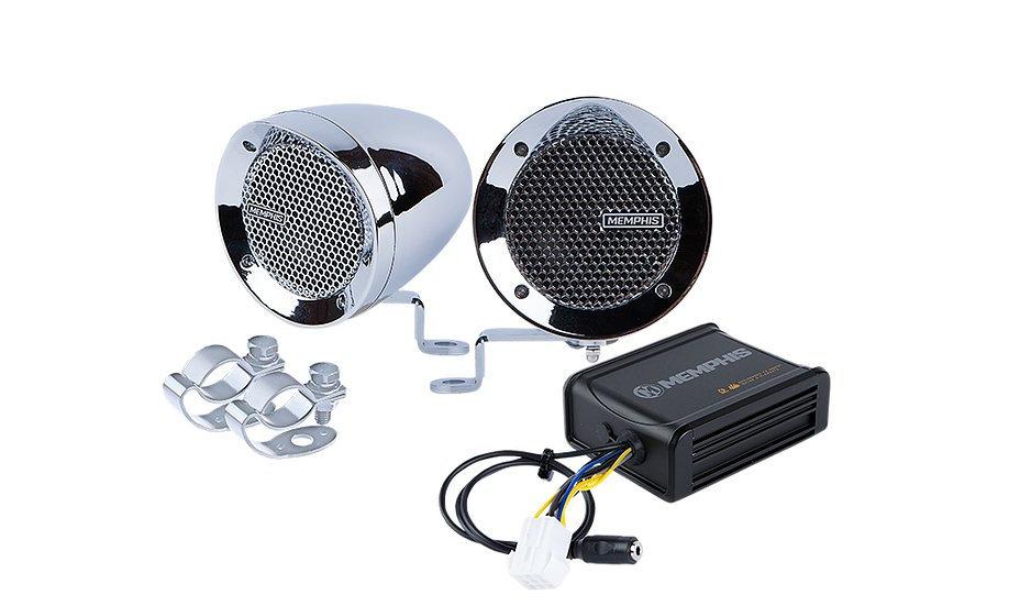 Memphis Audio - Handle Bar Speaker System - Chrome