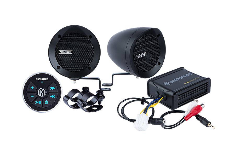 Memphis Audio - Handle Bar Speaker System - Black