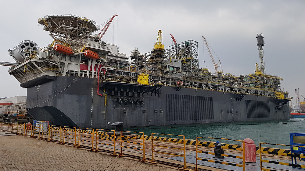 FPSO under construction at China Offshore Oil Engineering Qingdao