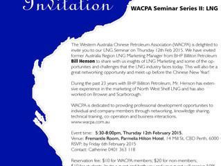 WACPA Seminar Series II: LNG – 26th February 2015