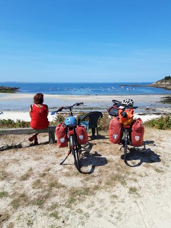 Eté 2019 - la Bretagne nord avec Catherine - 386 km