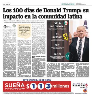 Los 100 días de Donald Trump: su impacto en los latinos | Metro Puerto Rico