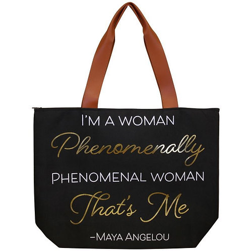 Phenomenal Woman Canvas Hand Bag