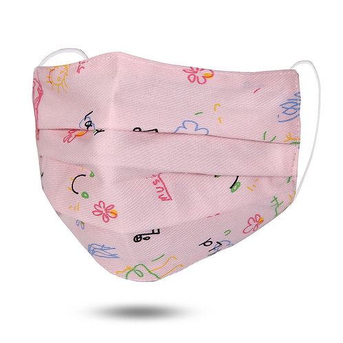 MUSIC PRINT COTTON KIDS FASHION MASK