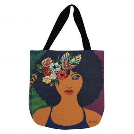 Believe Blossom Become Canvas Tote