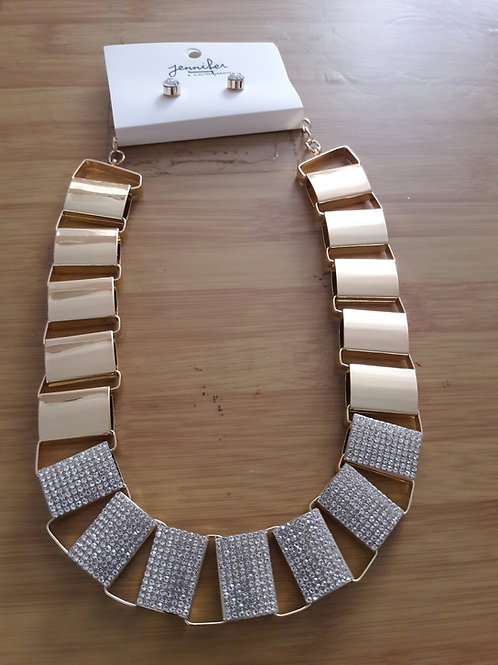 Reversible Gold Flat Link Necklace