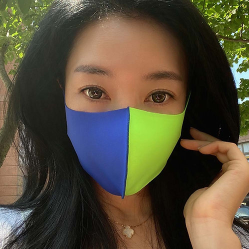 Blue & Green Two Tone Mask