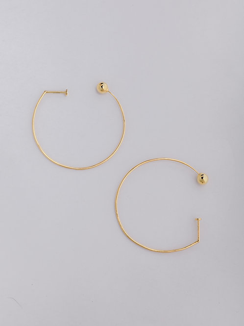 Beveled Open Hoop Earrings