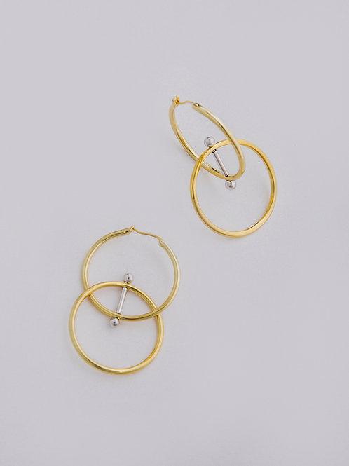 Revolved Double Hoop Earrings