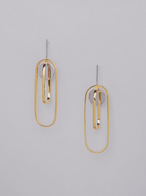 Duo Oval Hoop Earrings