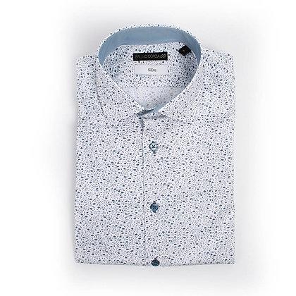 Camisa Casual en Color Azul