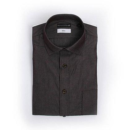 Camisa Casual en Color Negro