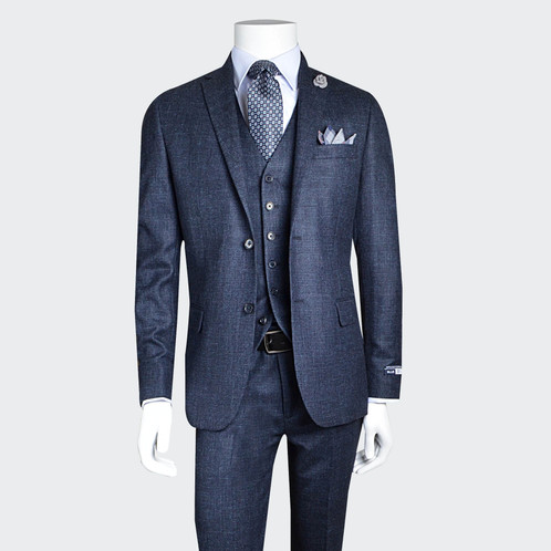 80d7d452e32 Traje 3 piezas Slim Fit Blue. SKU  018MYT02.   2