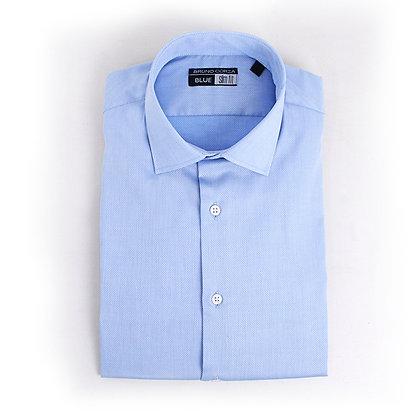 Camisa Slim Fit algodón azul