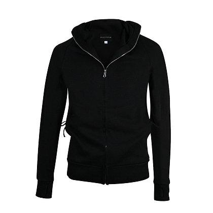 Hoodie con cierre y capucha negra