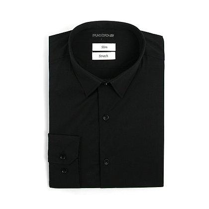Camisa Stretch Slim Fit Negra