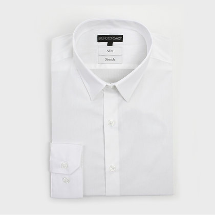 Camisa Stretch Slim Fit Blanca