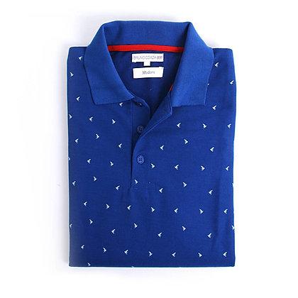 Playera Tipo Polo Color Azul Rey