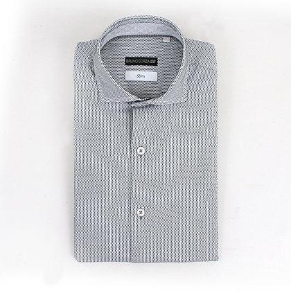 Camisa Slim Fit algodón gris
