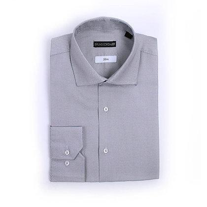 Camisa de Vestir en Color Gris Oxford
