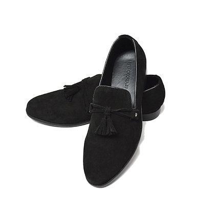Zapato tipo mocasin negro modelo Fran