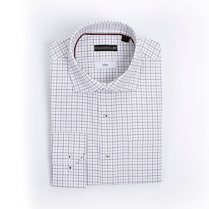 Camisa de Vestir Marino a Cuadros