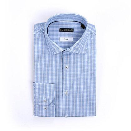 Camisa de Vestir a Cuadros Azules