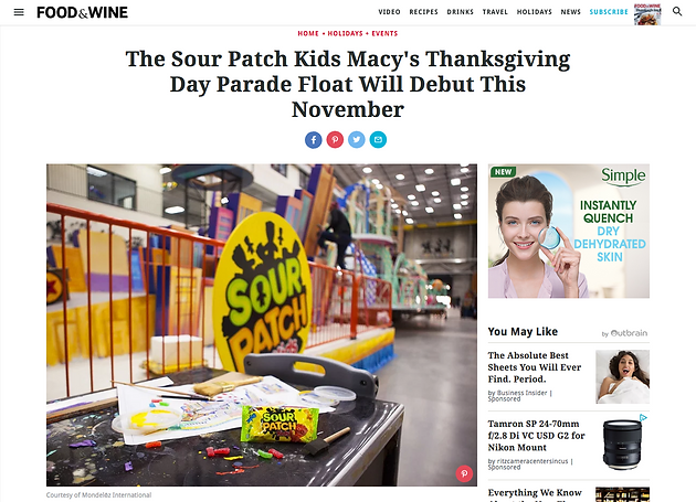 VaynerMedia and the Sour Patch Kids Macy's Day Parade Float