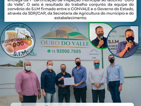 1º SELO DE INSPEÇÃO MUNICIPAL ENTREGUE!