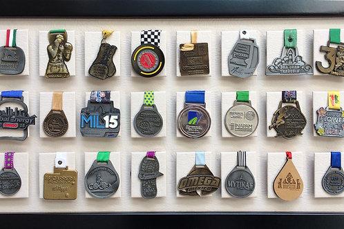 Medallero de 24 posiciones color hueso