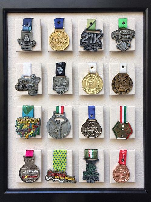 Medallero de 16 posiciones color hueso