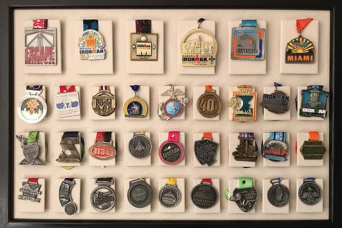 Medallero de 33 posiciones color hueso