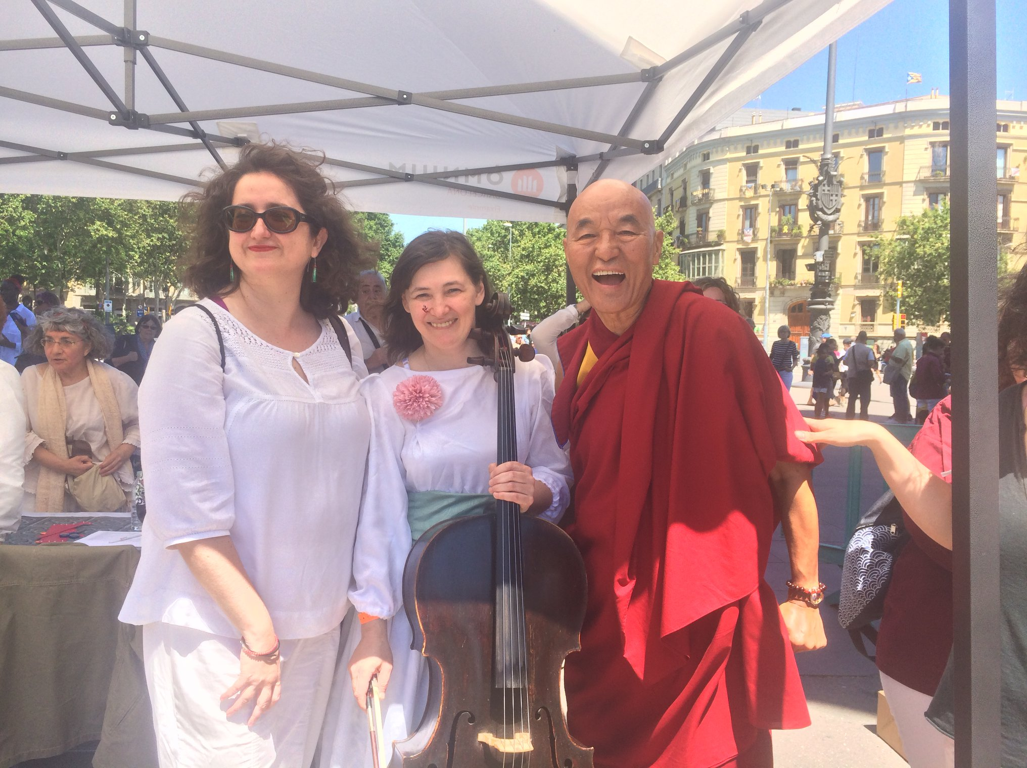 2a Caminada per la Pau. Thubten Wangchen i Sveta Tovstukha