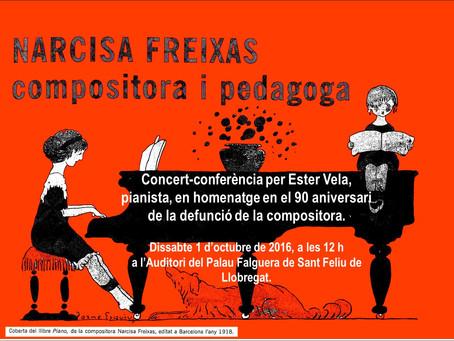 Concert Conferència homenatge a Narcisa Freixas