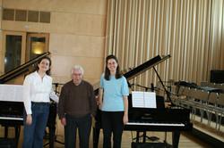 Amb el compositor Josep M. Mestres Quadreny. ESMUC