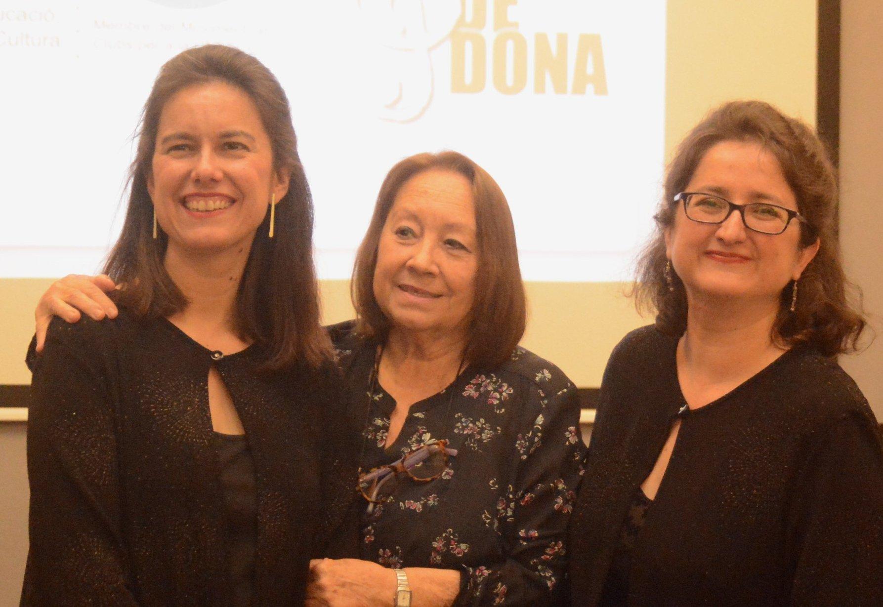 Duo Vela amb la compositora M. Rosa Ribas