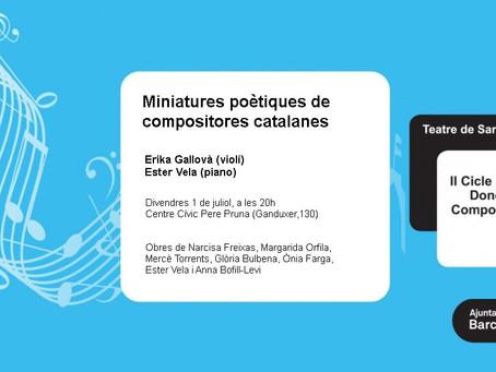 Miniatures poètiques de  compositores catalanes