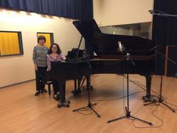 Amb la compositora Glòria Villanueva