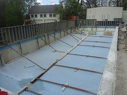 réhausse coffrage piscine