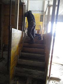 escalier coffré